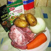 Мясной суп в мультиварке
