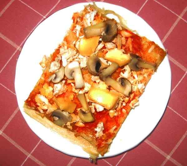 пицца с огурцами помидорами и колбасой рецепт пошагово