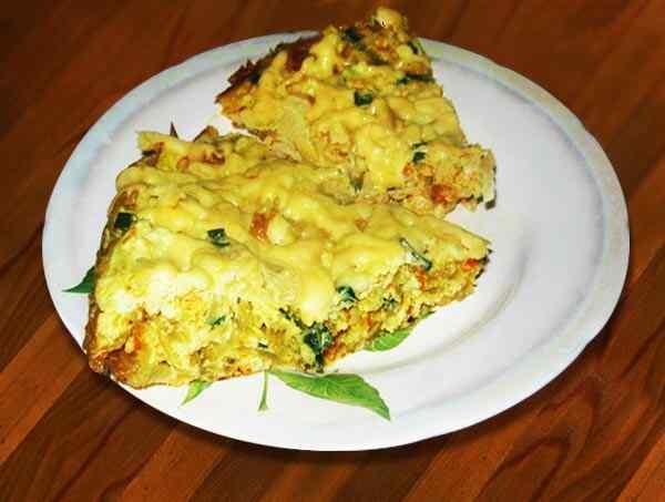 Капустная запеканка в мультиварке с сыром и яйцами