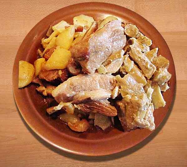 Картофель с мясом в мультиварке