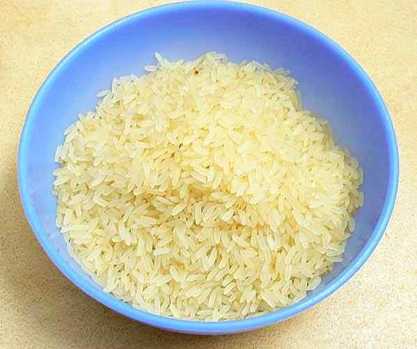 Промываем рис