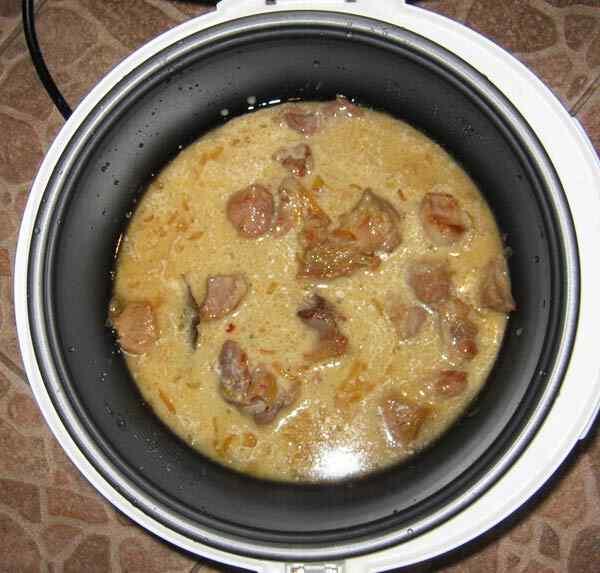 Рецепт приготовления свинины в мультиварке