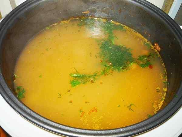 Суп в мультиварке поларис