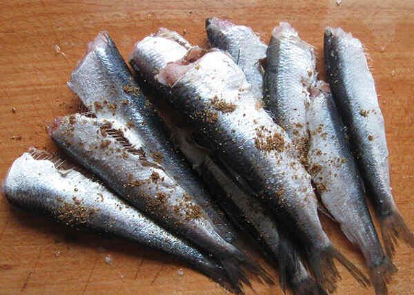 Приготовление рыбы в мультиварке. Шаг 1: Чиним рыбу и посыпаем специями