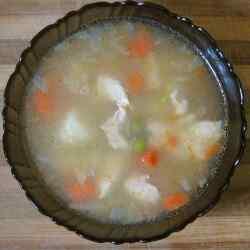 Порция диетического супа из мультиварки