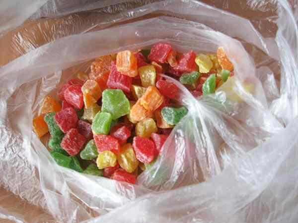Цветные цукаты украсят ваш кекс