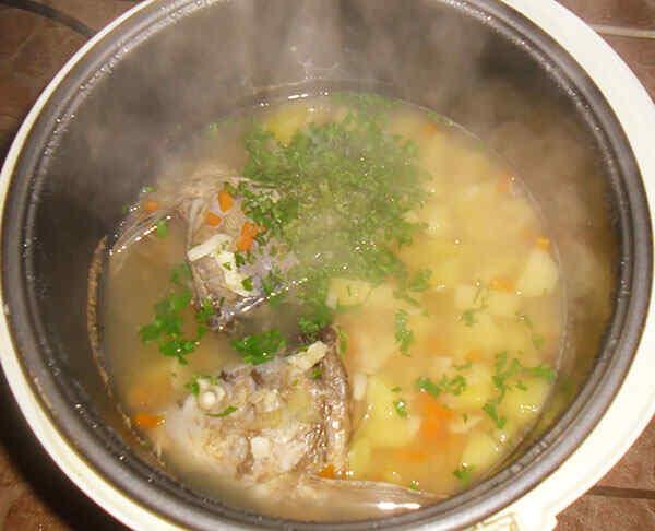 Блюдо из рыбы в мультиварке