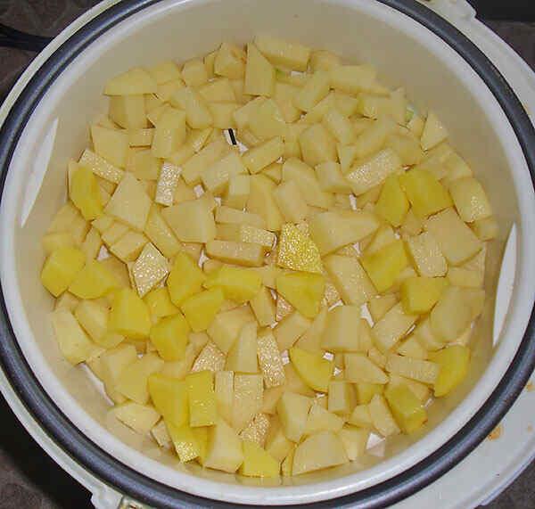 Готовим картошку на пару