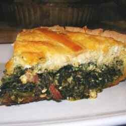 Пирог со шпинатом в духовке