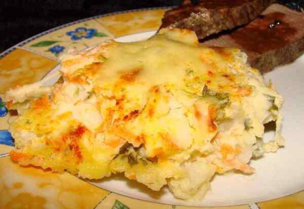 Картофельная запеканка с сыром в духовке