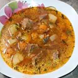 Суп харчо в мультиварке с говядиной и картошкой