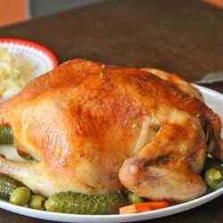Как приготовить вкусную курицу в духовке целиком