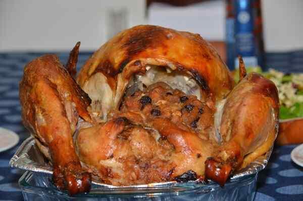 Курица фаршированная рисом в духовке рецепт