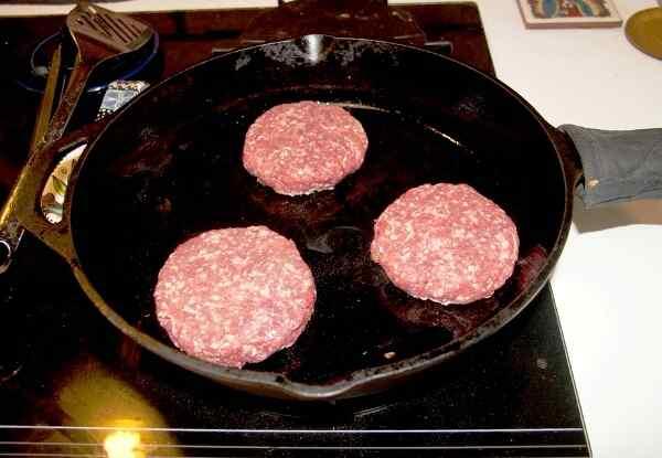 Как сделать плоские котлеты для гамбургера