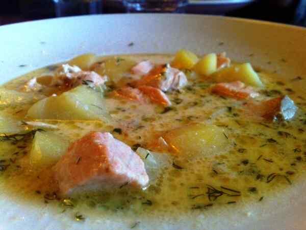 Суп из лосося со сливками по-фински