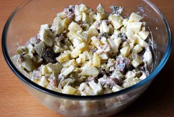 Салат с селедкой и яйцом рецепты