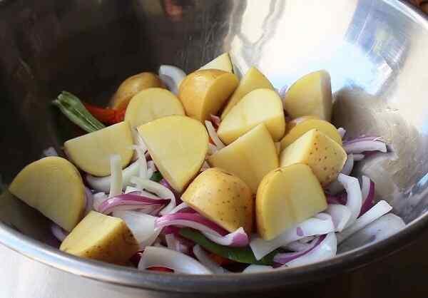 Картошка по-французски с курицей в духовке рецепт с фото
