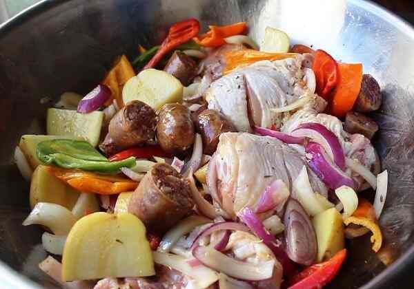 Картошка с курицей в духовке вкусный рецепт