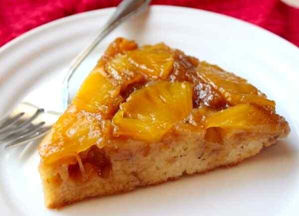 Пирог перевертыш с ананасами