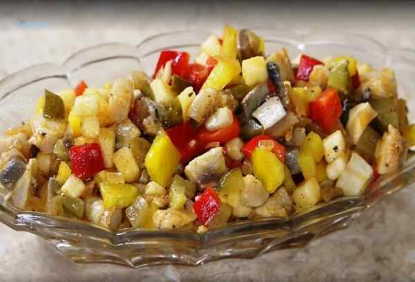 Салаты из сельди рецепт с фото