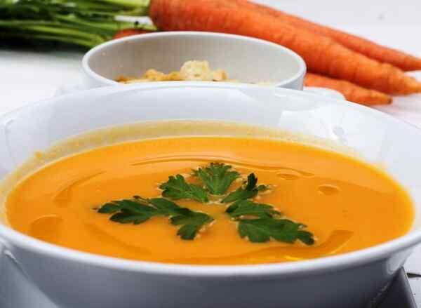 Картофельно морковный суп пюре