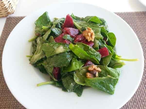Салат со шпинатом рецепт с фото