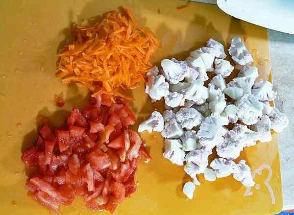 Овощи для горячего салата с куриной грудкой