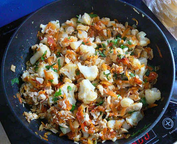Горячий салат курица грибы сыр