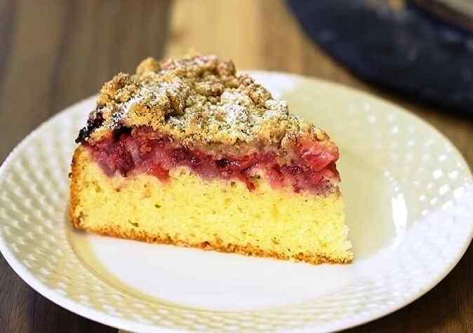 Рецепт клубничного пирога в духовке