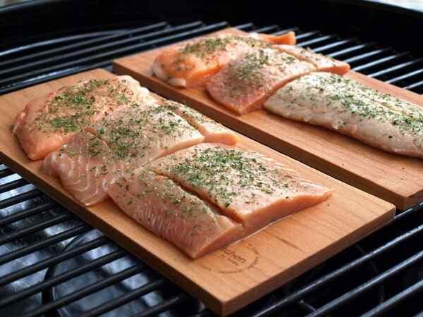 Стейки лосося запеченные