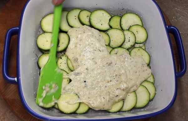 Запеканка из кабачков с рисом и сыром