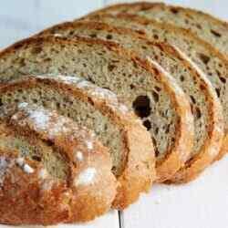 Пшенично ржаной хлеб на закваске в духовке