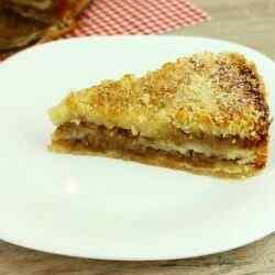 Сухой яблочный пирог с манкой рецепт
