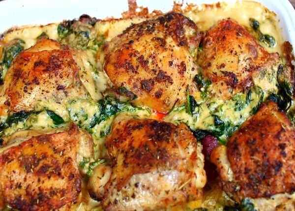 Курица запеченная в духовке с чесноком