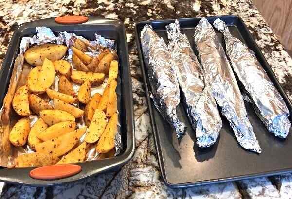 Скумбрия в духовке с картошкой и овощами