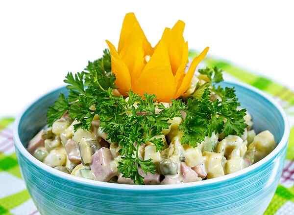 Салат оливье с колбасой ингредиенты и рецепт