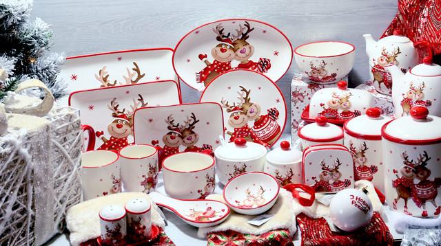 Красивая и качественная посуда на новогоднюю тематику